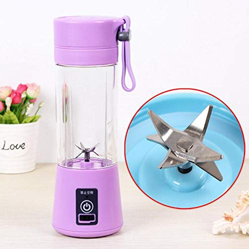 FPXNBONE Vaso Individuales para Fruta,Exprimidor eléctrico portátil, Mini USB Recargable exprimidor-H,Licuadora Portátil Mini Batidora