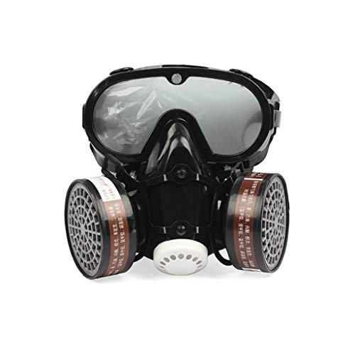 2 en 1 Mascarilla industrial a prueba de polvo Anti-polvo Anti-toxina Gafas...
