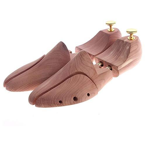 SJYSD-Bath Mat Zapateros de Doble Tubo de Madera de Cedro Rojo Ajustable Moldeador de Zapatos para Hombres árbol de Zapatos ensanchadores (Color: 41 42)
