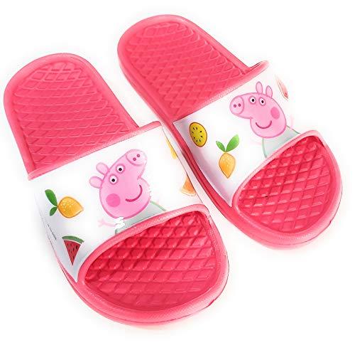 Chanclas Peppa Pig para Playa o Piscina - Chanclas Peppa Pig para niñas (Fucsia, Numeric_30)
