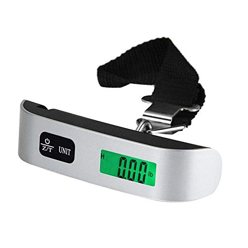 TATUM 携帯 デジタルスケール 50Kgまで はかり ベルト吊り下げ式 ラゲッジチェッカー スーツケース 荷物図り 釣りスケール LCD液晶ディスプレイ 旅行に コンパクト