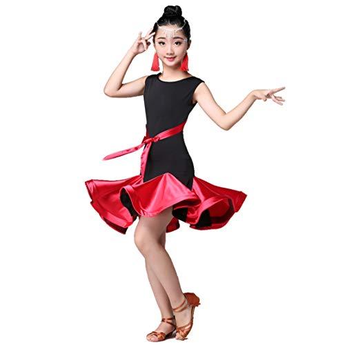 Mädchen Latin Dance Kleid Salsa Rumba Tango Kostüm Damen Tanzkleidung Modern Performance Wettbewerb Dancewear