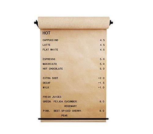 LMXJB Wand Montiert Papier Rolle Halter Papier Spender Und Roller Kraftpapier Wiederverwendbar,Passend Für Office Dessert Cafe Shop Dekoration -1 Spender, Papier,Papierhalterleisten,67Cm