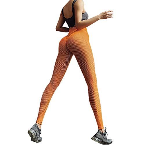 NAQUSHA Pantalones de yoga de color puro sin costuras para mujer, de cintura alta, para correr, para levantamiento de glúteos, pantalones
