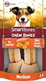 SmartBones Medium Sweet Potato Bones Rawhide-Free Chewy Treats for Dogs, Made With Vegetables