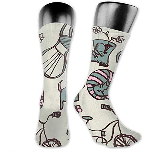 Socken Sind Bequem; Männer 'Sgarden Doodle Cartoon Style Mittlere Und Lange Socken
