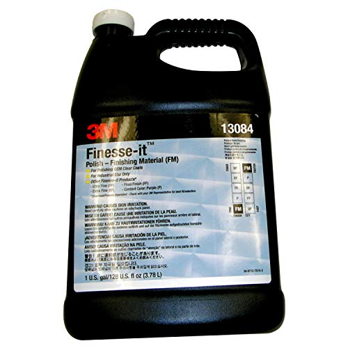 3M Finesse-it Polish - Finishing Material, 81235, White, Easy Clean Up, Liter