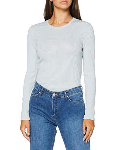 Damart Pull Manches Longues Maille COTELEE SOIE-43396 sous-vêtement, Perle, XL Femme