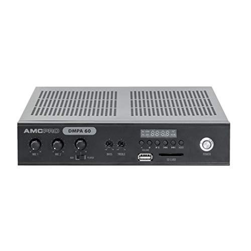 AMC DMPA 60 W klassad amplifierare med integrerad sd/USB mediaspelare