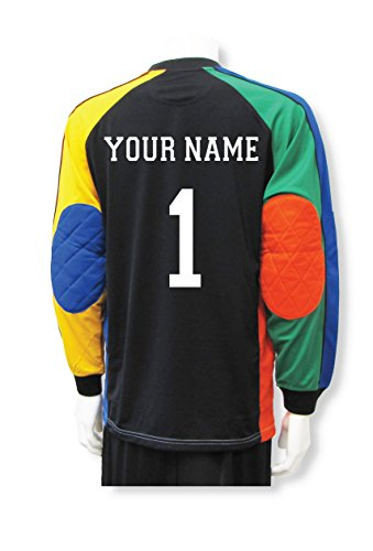 Code Four Athletics Soccer Goalkeeper Jersey Customized with Your Name and Number - Size Youth L