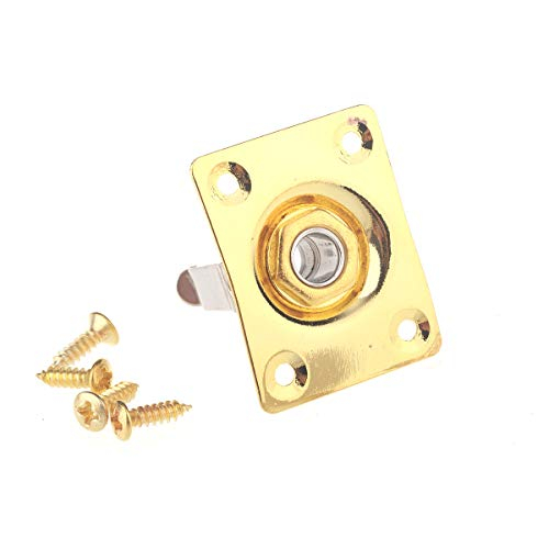 Musiclily Rechteck Form Klinkenbuchse Eingang Gitarre Jack Socket, Gold