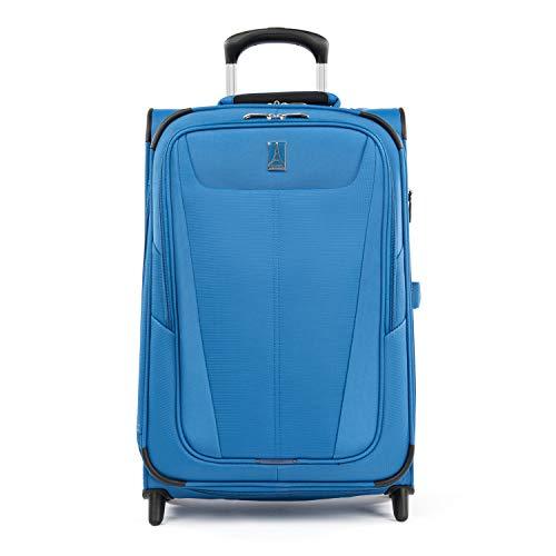 Travelpro Maxlite 5-Softside Lightweight Expandable Upright Luggage, Azure Blue, Carry-On 22-Inch