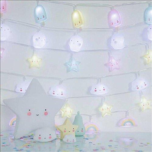 Xingyue Mythology LED Luces De Cadena 2 M Lindos Nubes Blancas Luces DecoracióN De La HabitacióN Luces Colgantes Linternas De DecoracióN De Navidad Blanco