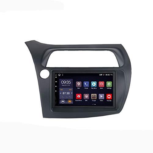 Foof Sistema Android 9.1 7 Pollici Navigazione GPS per Auto per Honda Civic Hatchback 2006-2011 con Autoradio Stereo Radio Bluetooth Mirror Link Sistema Multimediale,8 cores,4G WiFi 4G+64G
