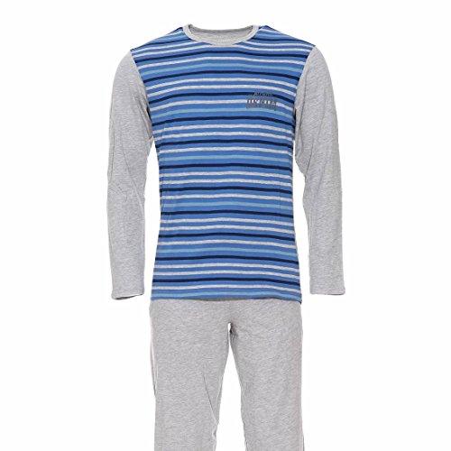 Athena Herren Schlafanzug Gr. XXL, blau