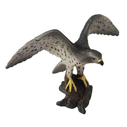 B Blesiya Oiseau Figurine Statue Animaux Artificielle Scupltue Jardin Pelouse Décor - Faucon pèlerin