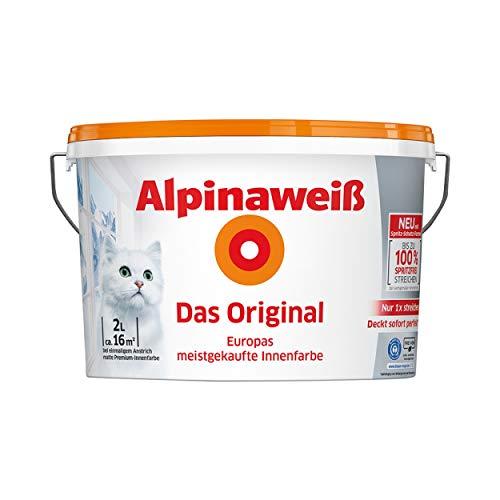 Alpina Innenweiß DO Spritz-Frei 2 Liter Innenfarbe weiß
