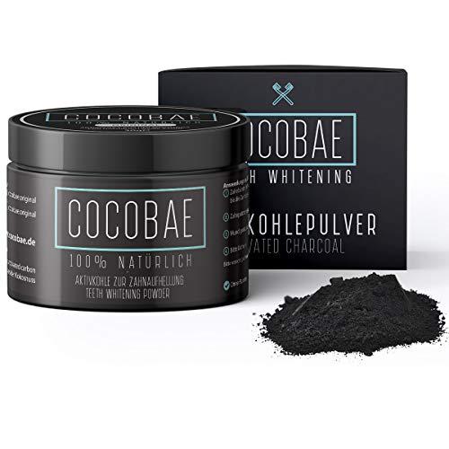 COCOBAE® Teeth Whitening - Kokosnuss Aktivkohle Für Weiße Zähne – Kokos Zahnaufhellung - Aktivkohle Zähne - Aktivkohle Zahnaufhellung - Activated Charcoal Powder