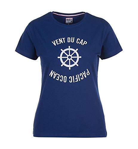 Vent du cap -Tee-Shirt Manches Courtes Femme - ACHERYL-Marine-XL