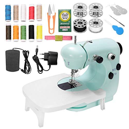ZITFRI Mini Machine à Coudre Débutant avec 2 Réglage de La Vitesse Table d'Extension et Lampe Intégrée Machine a Coudre Electrique Machine à Coudre pour Enfant Portable