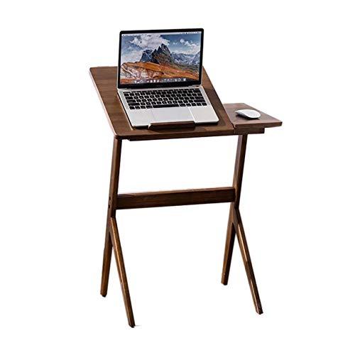 Jcnfa-Mesas Detalles de la computadora de la computadora, el Escritorio de la Escritura del Estudiante, la Mesa Lateral del sofá de la Pierna Inclinada, 3 Niveles Ajustables, Material de bambú