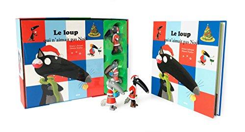 Le Loup qui n'aimait pas Noel - Coffret livre (petit format) + deux figurines