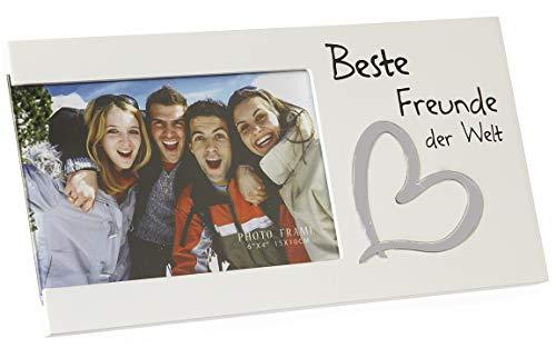Bada Bing Bilderrahmen Fotorahmen Beste Freunde der Welt BFF Geschenk Edel Weiß 97