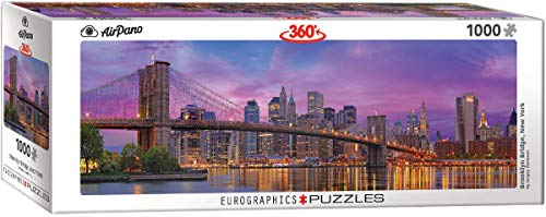 EuroGraphics 6010-5301 Brooklyn Bridge New York Puzzle (1000-Piece) 6010-5301-Puzzle, 1000 pezzi, Colore Vario