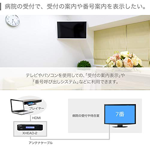 『マイコンソフト 地デジ対応 OFDM変調器 混合器+HDMIケーブル付限定セット XHEAD-2 DP3913555 電波新聞社 アンテナ デジタル変調器』の4枚目の画像