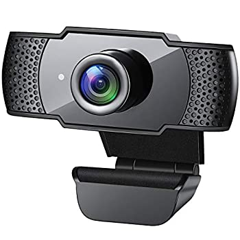 Webcam with Microphone 1080P HD Streaming USB Computer Webcam [Plug and Play] [30fps] for PC Video Conferencing/Calling/Gaming Laptop/Desktop Mac Skype/YouTube/Zoom/Facetime