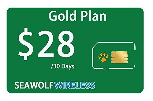 Seawolf Wireless Prepaid SIM Card Gold Plan