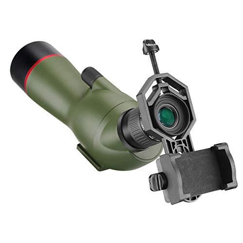 Svbony SV19 Telescopio Terrestre 15-45x60 Portátil HD Telescopio Monocular Impermeable Ocular Angular de 45 Grados con Adaptador para Teléfono Bolsa de Transporte para Tiro al Blanco Tiro con Arco