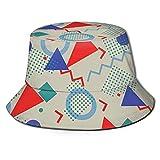 N \ A Retro Negro Cubo Sombrero Al Aire Libre Plegable Sombrero De Pescador Moda Pescador Playa Sombrero De Sol Femenino Adolescente