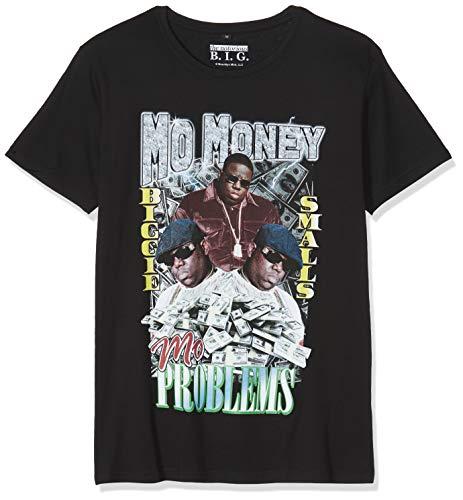 MERCHCODE Herren Notorious B.I.G. Mo Money Tee - Oberteil mit Print von Biggie und passendem Schriftzug T-shirt, Black, S