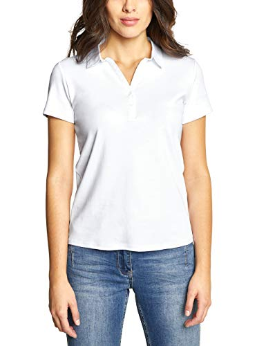 Cecil Damen 313339 Polo Poloshirt, White, Large