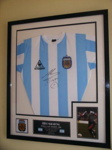 Trikot mit Autogramm von Diego Maradona, Argentinien, 1986WM-Sieger