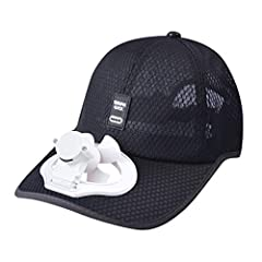 Idea Regalo - Harpily Estate Outdoor Cappello Raffredda Ventilatore Freddo per Baseball di Golf Sport Cappello Estivi Berretto Traspirante Cappello Casuali con Mini Ventilatore Outdoor per Uomo Donna (Nero)