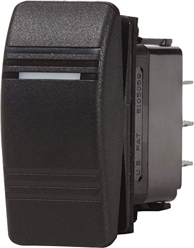 Blue Sea Systems Contura OFF-ON SPST Switch, Black