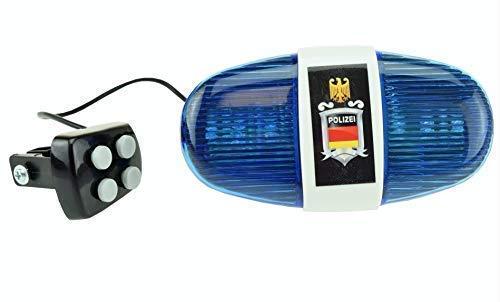 xtrafast Polizei Sirene mit 6 LED Blinklicht und 4 Tönen