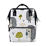 FHTDH Bebé Cambio de pañales Bolsos cambiadores Mochi Colorful Building Blocks Toy Diaper Bags Mummy Tote Bags Large Capacity Multi-Function Backpack for Travel