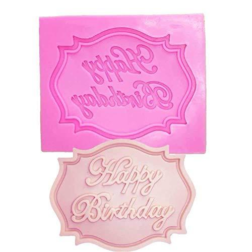 Lankater 1pc Alles Zum Geburtstag Brief-silikon-Form, Miniplattenform Für Kuchen Dekorieren, Basteln, Kuchen, Sugar, Süßigkeiten, Schokolade, Kartenherstellung Und Ton