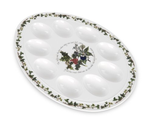 Portmeirion Holly & Ivy Devilled Egg Dish 12""
