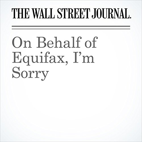 On Behalf of Equifax, I'm Sorry copertina