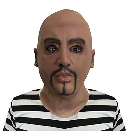 DbuzRztbrpn Máscara de látex Blackhead Bald Man Character Headgear Halloween Horror Scary Live Performance Mask