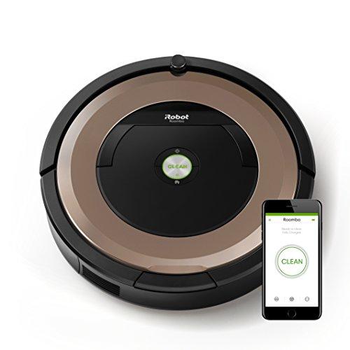 iRobot Roomba 895 Robot Aspirapolvere con Dirt Detect e Spazzole Tangle-Free, per Pavimenti e Tappeti, Connessione Wi-Fi, Bronzo