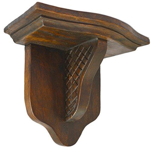 CinMin Handcarved Wood Corbel 10 Inch Bracket and Floating Stand, Madison Oak