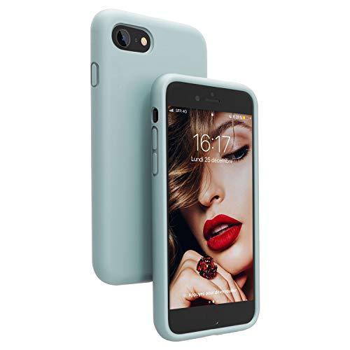 JASBON Coque iPhone Se 2020, Coque iPhone 8, Coque iPhone 7, Coque Silicone Liquide Anti-Rayure, Housse Etui Protecteur Silicone Anti-Choc Gel Case pour iPhone 7/8/SE 2020 (4.7 Pouces) – Vert