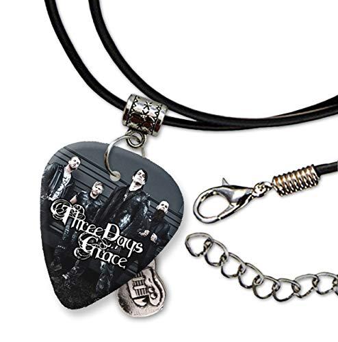 Three Days Grace Design 2 Gitarren Pick Cord Kette Necklace SC Range