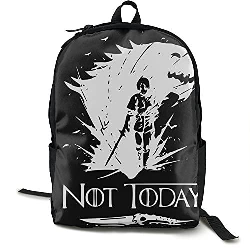 Not Today Arya Stark Idea para Fan Love Game Of Thrones Mochila de viaje impermeable para gimnasio, escuela, compras, yoga, senderismo, playa