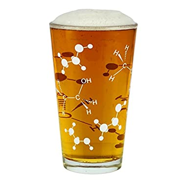 Barbuzzo Chemist Approved Beer Pint Glass, 16 Ounces - Bring Out Your Inner Nerd, Geek or Chemist - Great Gift for Bio & Chem Grads, Nurses, Doctors and all those in the Medical & Research Fields